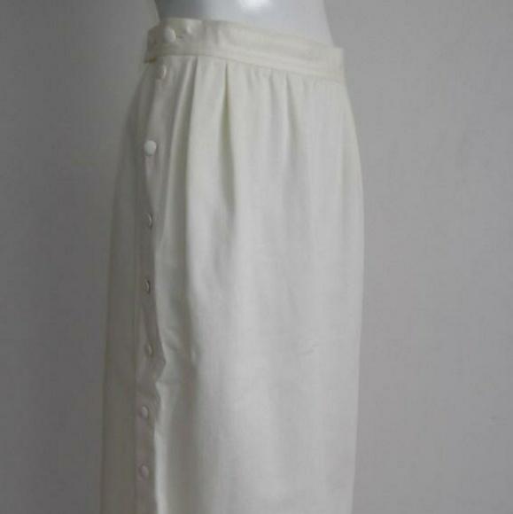 Yves Saint Laurent Dresses & Skirts - SOLD YSL Yves Saint Laurent highwaist button skirt